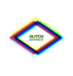 abstract glitch polygon frame geometric art vector image