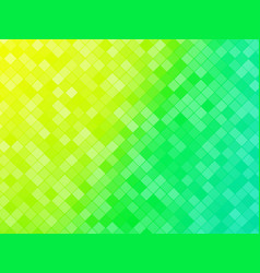 abstract green yellow tiled background vector image