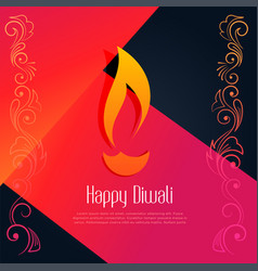 abstract happy diwali creative design background vector image