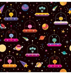 Aliens space pattern vector