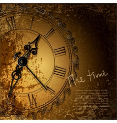 Antique clock background vector