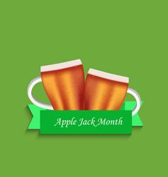 Applejack month background vector