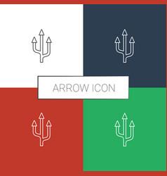 Arrow icon white background vector