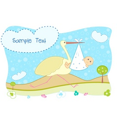 babys card vector image