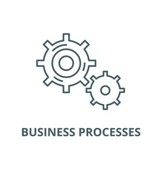 business processes line icon linear vector image