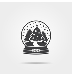 Christmas snow globe icon vector