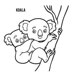 coloring book koala vector image