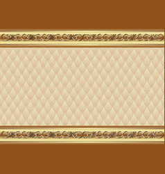 decorative background with golden ornament and vector image