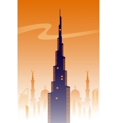 Dubai skyline background vector image