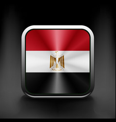 Egypt icon flag national travel icon country vector image
