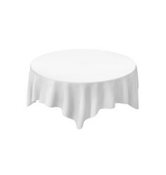 Empty round tablecloth isolated on white vector