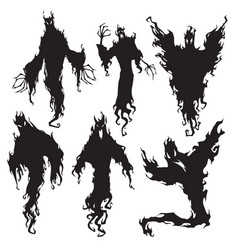 evil spirit silhouette halloween dark night devil vector image