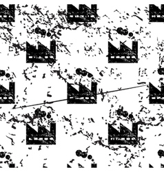 Factory pattern grunge monochrome vector