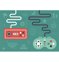 Flat Gaming Controllers vector image
