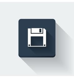 Floppy disc icon vector