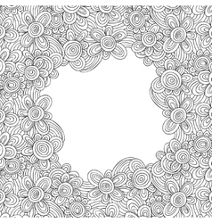 floral monochrome pattern For easy making vector image