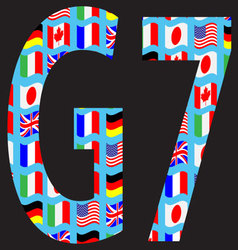 G7 icon pattern flag vector