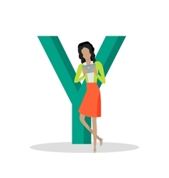 Gadget Alphabet Letter - Y vector