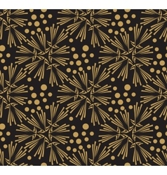 Golden ornate seamless pattern Gorgeous vector image