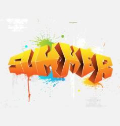 Graffiti summer vector