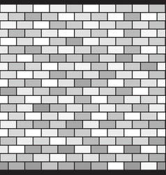 gray brick wall pattern seamless background vector image