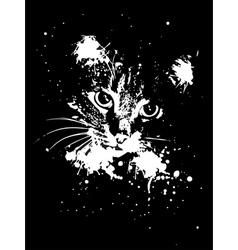 Grunge Cat vector