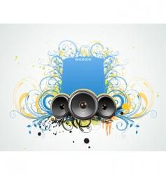 grunge music frame vector image