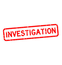 Grunge red investigation word square rubber seal vector