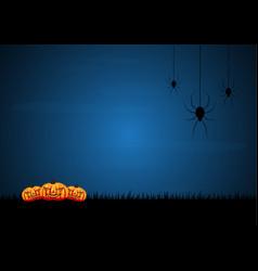 halloween spider moon graveyard pumpkin vector image