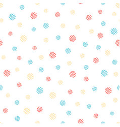 hand painted polka dot seamless pattern colored vector image