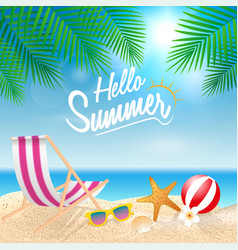 hello summer holiday background season vacation vector image