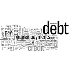 How to pay off debt vector