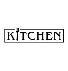 Kitchen logo with fork vector