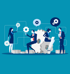 Maintenance business people for product vector