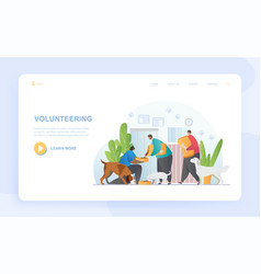 male and female characters are volunteering vector image