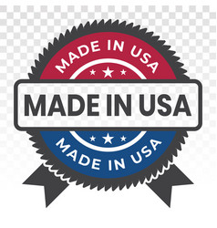 Manufactured or made in usa badge flat icon vector