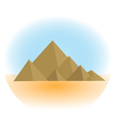 Mountain icon flat cartoon style jewish vector