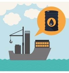 Oil and petroleum industry design vector