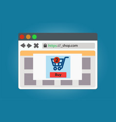 online store window open in the browser isolated vector image