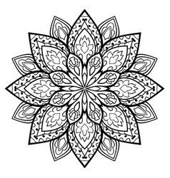oriental simple mandala vector image