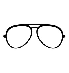 Oval eyeglasses icon simple style vector