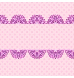 Pink pattern with floral stripe vector