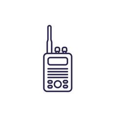 Radio set icon line vector
