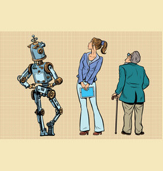 Robot girl and old viewers are back vector