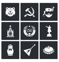 Russia icons vector image