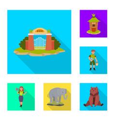 Safari and animal sign set vector