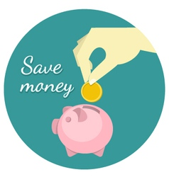 Save Money Concept vector