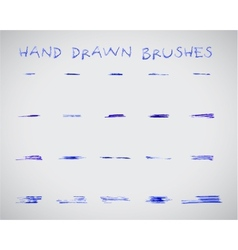 Set of felt pen marker hand drawndoodle sketched vector image
