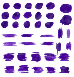 set of paint watercolor brushes vector image
