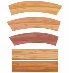 Set of wooden elements vector